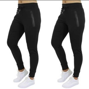 Slim-Fit French Terry Joggers Zipper Pockets